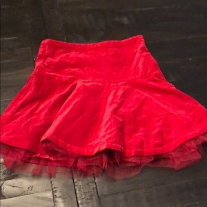 New with Tags- Girls red skirt